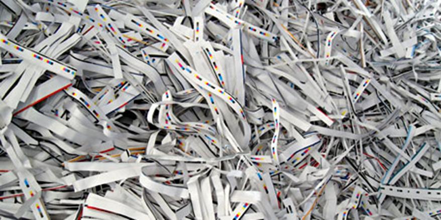 déchets papier