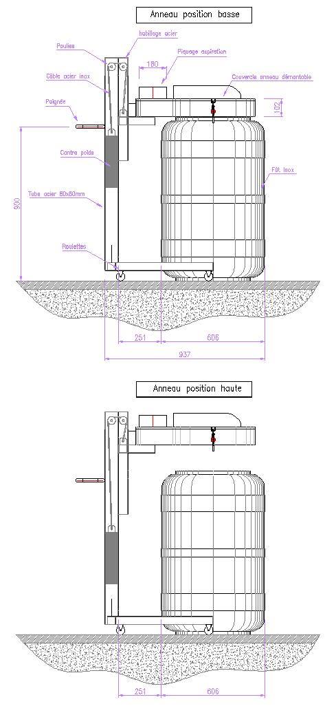 dessin anneau aspirant mobile