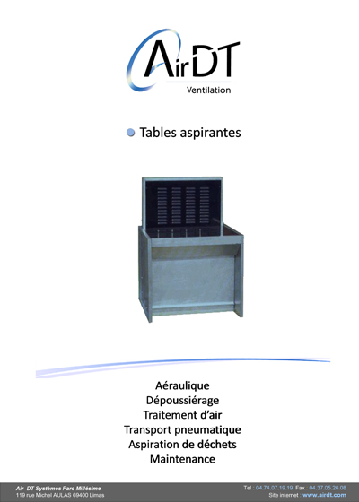 Doc Tables aspirantes - documentation PDF